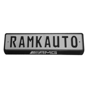 Рамка номера AMG с подсветкой надписи