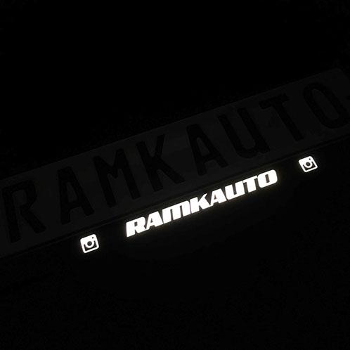 Рамки номера для автомобиля с подсветкой