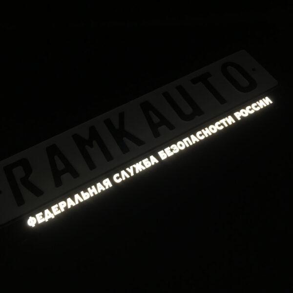 Рамка номера ФЕДЕРАЛЬНАЯ СЛУЖБА БЕЗОПАСНОСТИ с подсветкой надписи