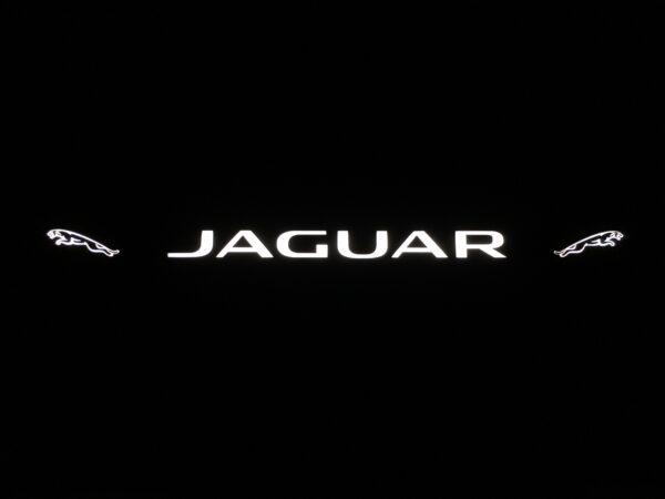 Рамка номера jaguar с подсветкой надписи и лого
