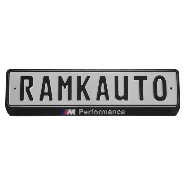 Рамка номера m performance