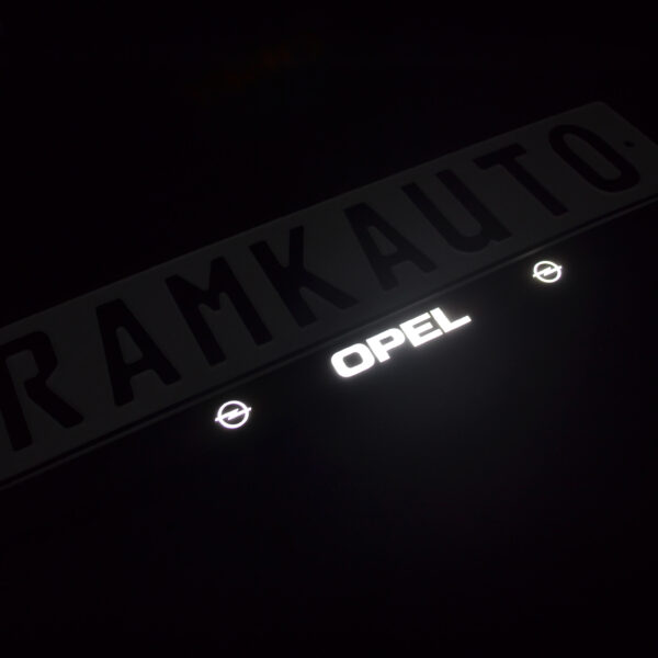 Рамка номера opel с подсветкой надписи