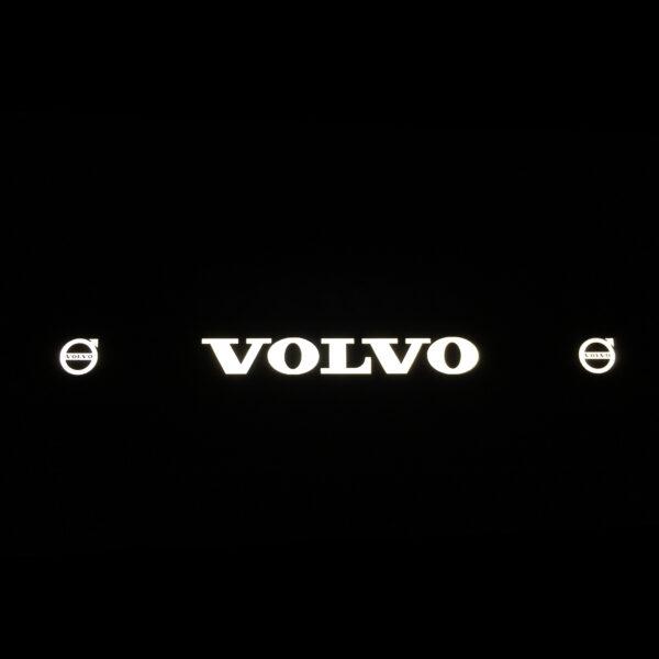 Рамка номера volvo с подсветкой надписи и лого