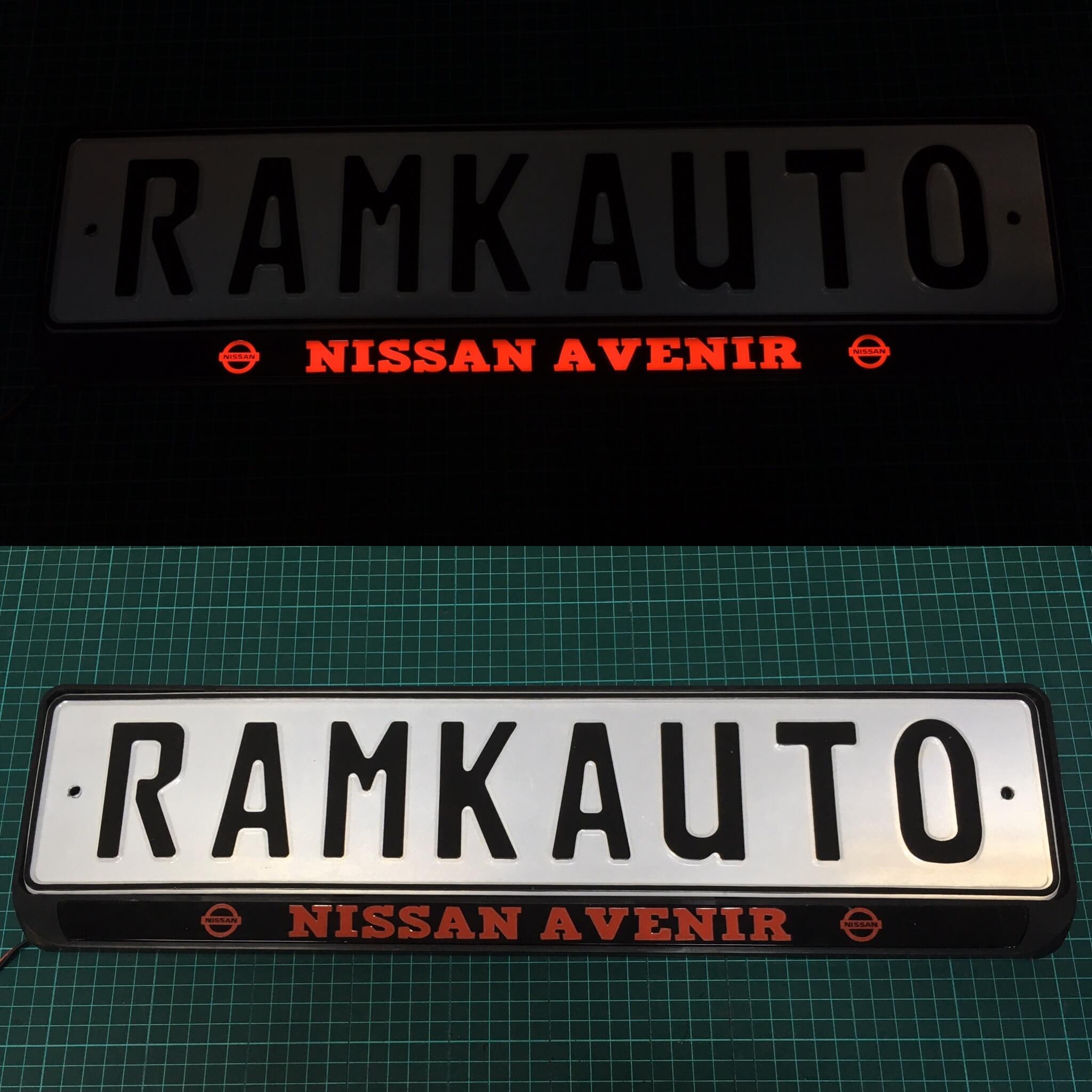 Рамка с подсветкой Nissan Avenir