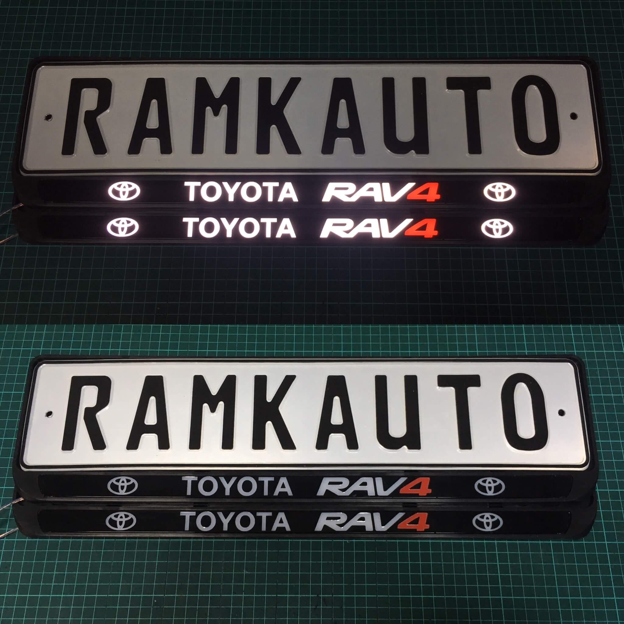 Рамка с подсветкой Toyota Rav4